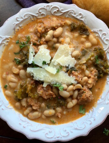 "Vegetarian Cannellini and ""Sausage"" Stew"