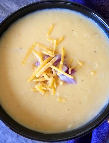 vegetarian beer cheese soup