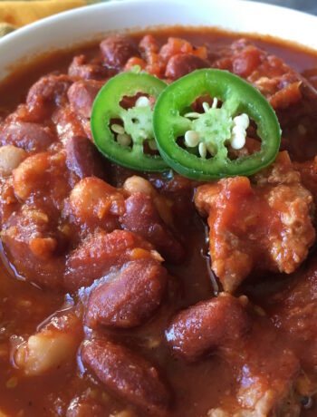 "Vegan Crockpot ""Sausage"" Chili"