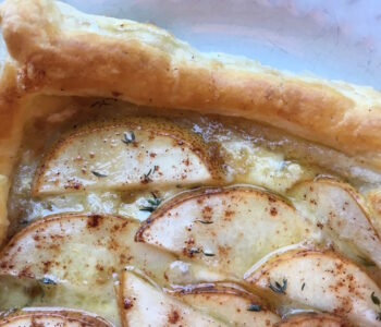 Vegetarian Brie & Pear Puff Pastry