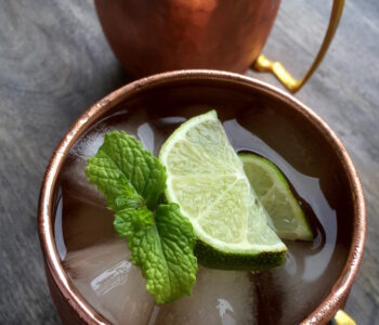 Moscow Mule with Ginger Simple Syrup