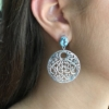 Bella Blue Topaz Scroll Drop Earrings