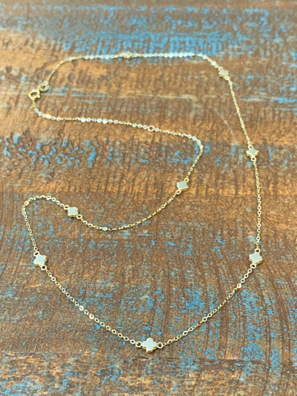 Tiny Bella Gold Clover Necklace
