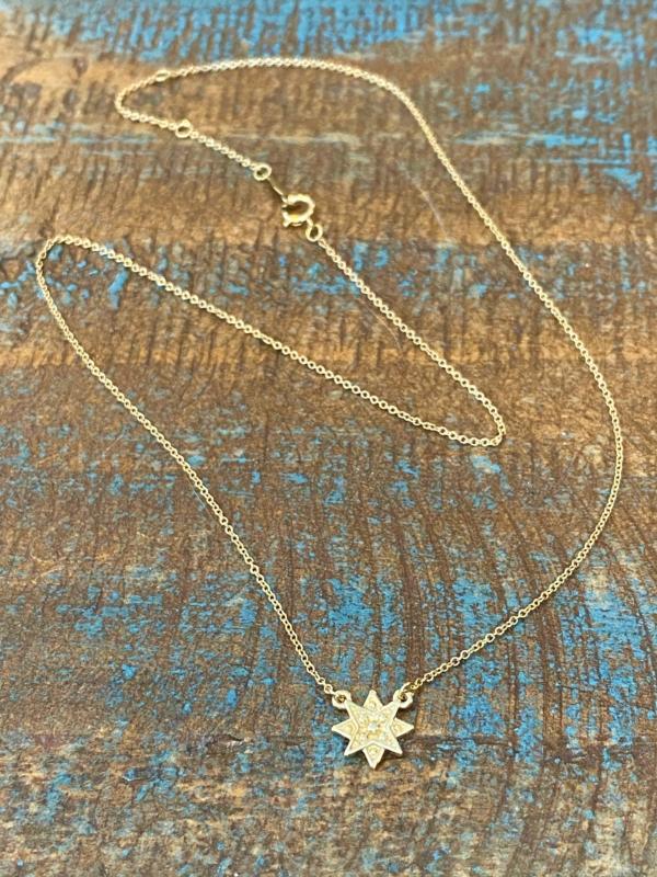 Tiny Bella Gold Super Star Pendant