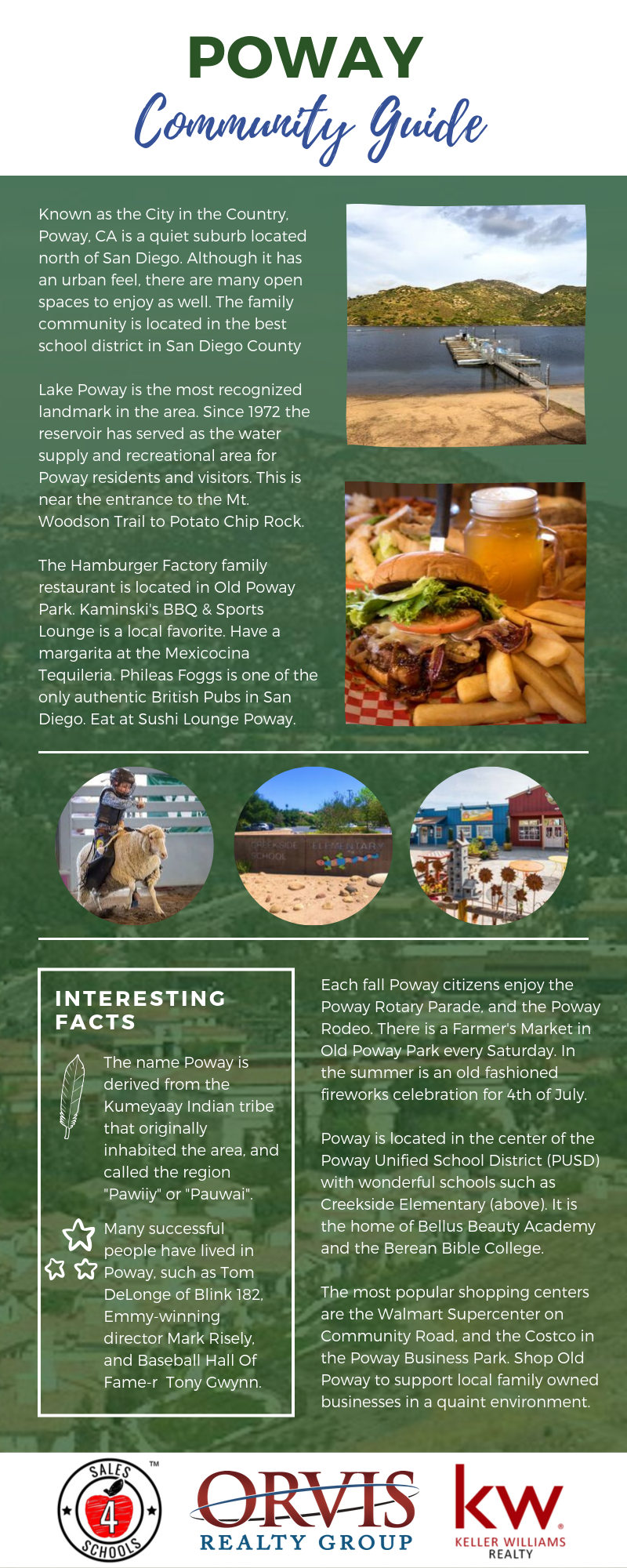 Poway Community Guide and Infographic