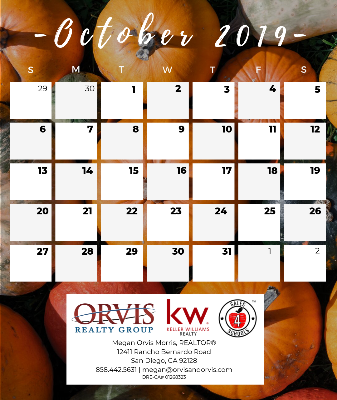 Month of October 2019