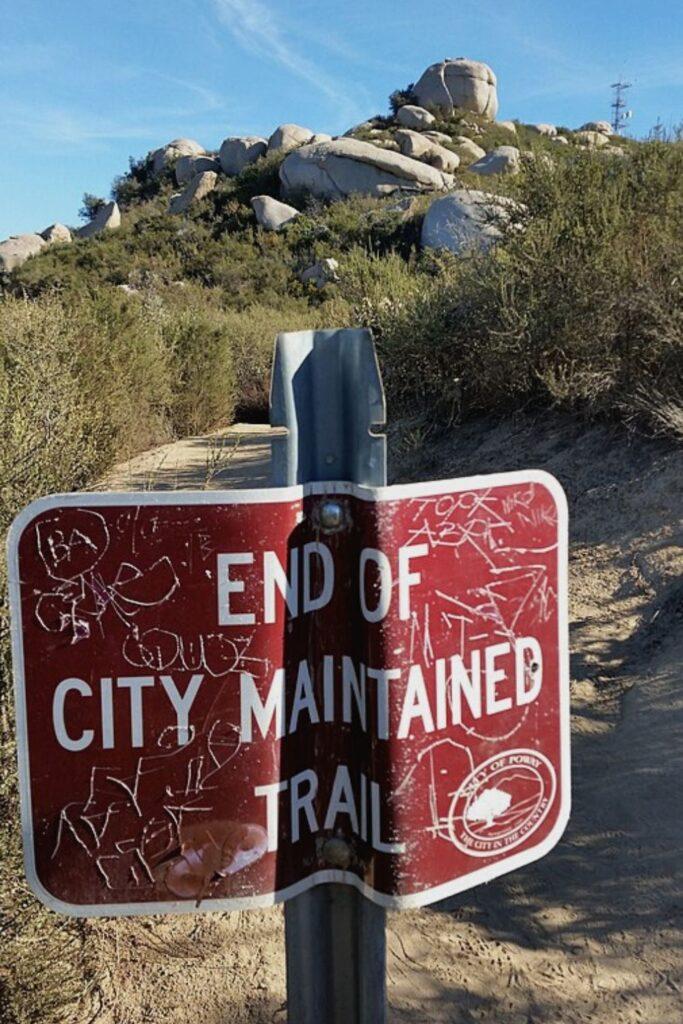 Mount Woodson trail.