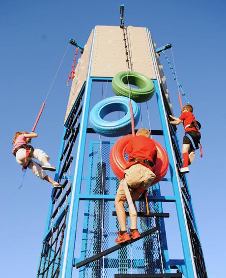 Tire Climb Challenge Climbing Tower