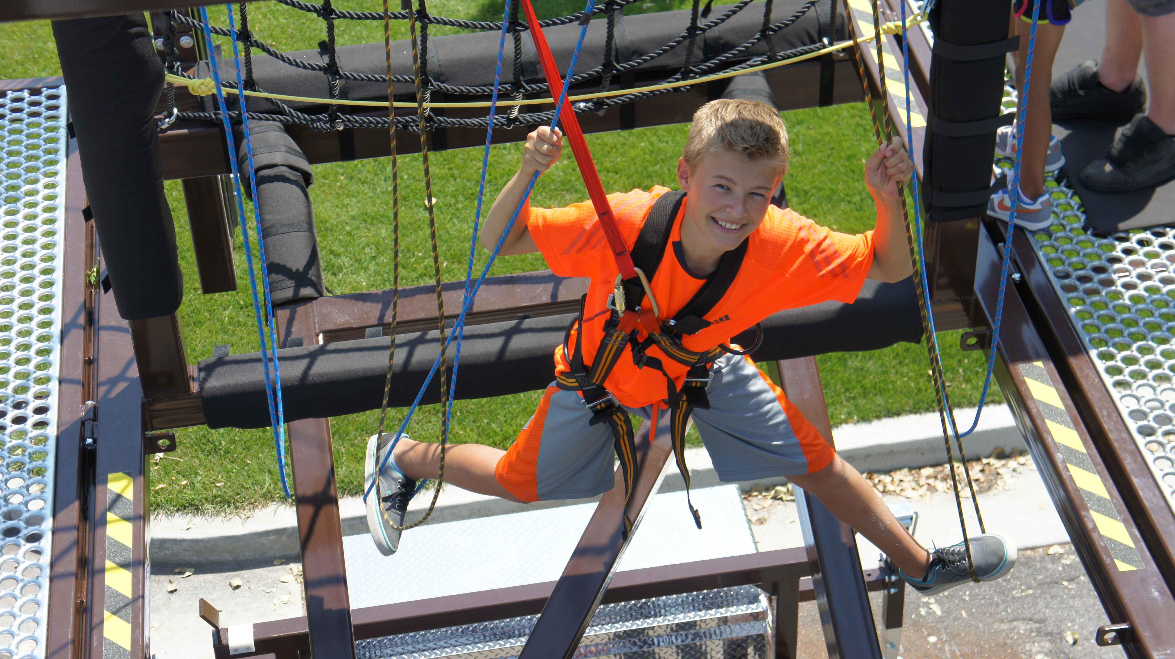 Ropes Course Boy
