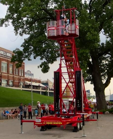 Portable Zip Line at the Fair