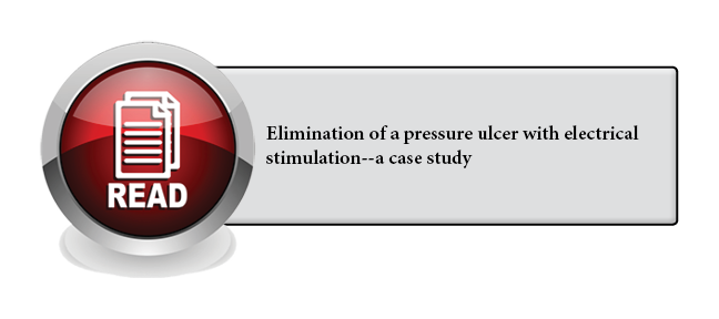 123 - Elimination of a pressure ulcer with electrical stimulation--a case study