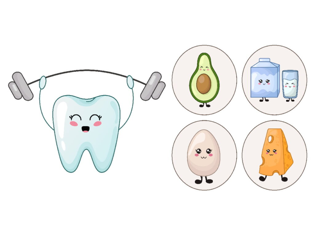 Image showing strong teeth and healthy foods