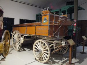 one of the wagons in the carriage house