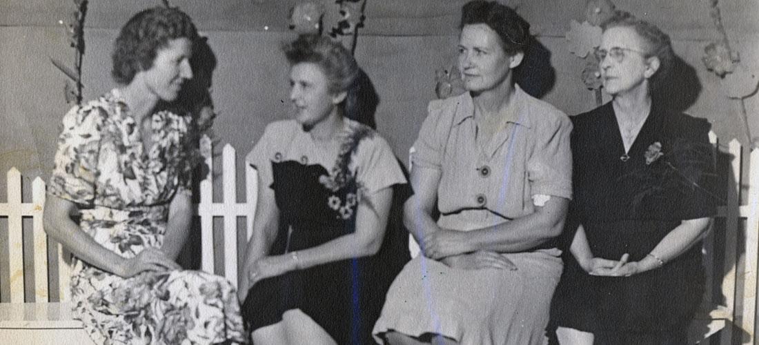 1950s era photograph, Amboy school educators