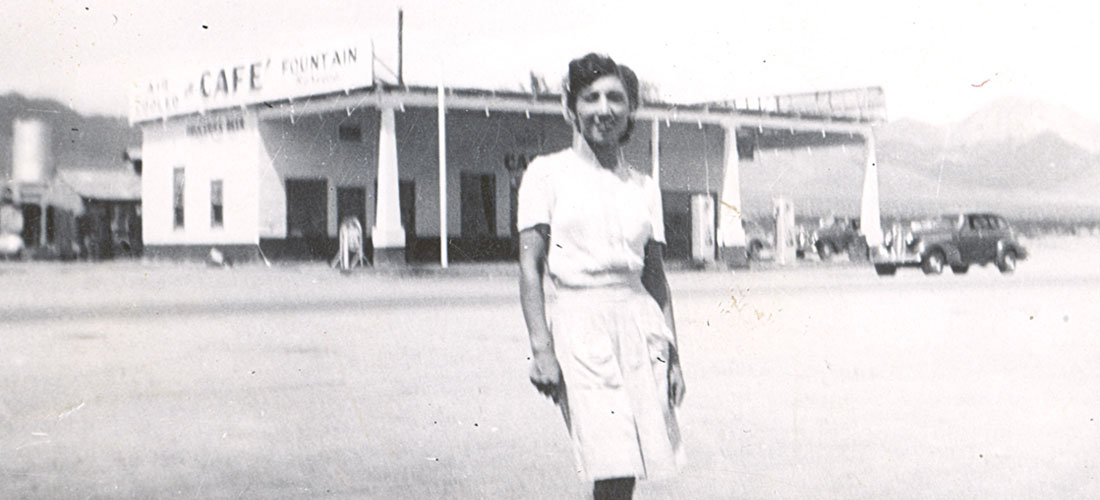 Nellie Sandoval in Amboy, 1940