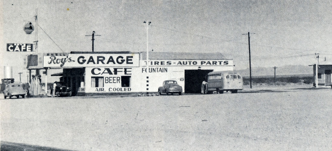 Roy's Garage and Cafe 1945 on old route 66