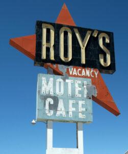 The Roy's Motel & Café famous sign