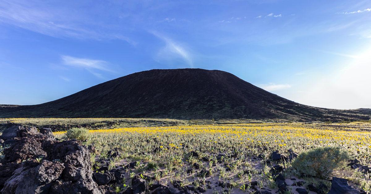 The Amboy Crater Mojave Desert