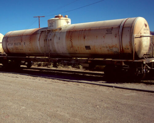 Water Tank Delivered By Train in Amboy California