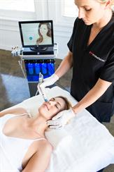 HydraFacial Being Performed