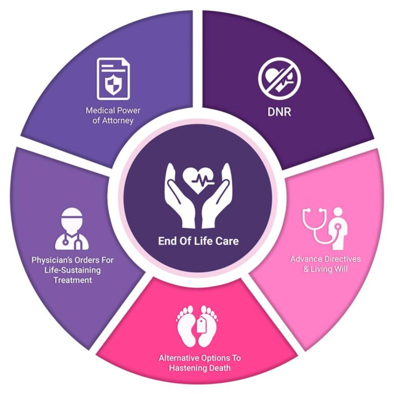 End Of Life Care Planning Infographics