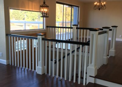 New stair railing