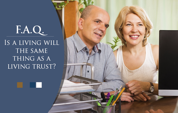 Is a living will the same as a living trust?