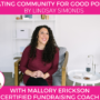 Mallory Erickson | A New Way to Fundraise | Certified Fundraising Coach