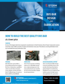 bus bar design and fabrication guide