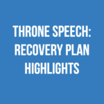 Throne Speech: Recovery Plan Highlights