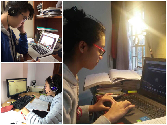 Trường THCS & THPT Nguyễn Tất Thành cho 100% học sinh học trực tuyến - Ảnh 5.
