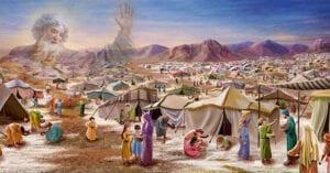 Kết quả hình ảnh cho dân do thái vượt qua sa mạc vào đất hứa