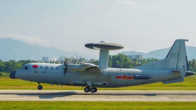 KJ-500 của Trung Quốc, loại máy bay tham gia tập trận gần Đài Loan vào giữa tháng 3 /// Chinamil.com.cn