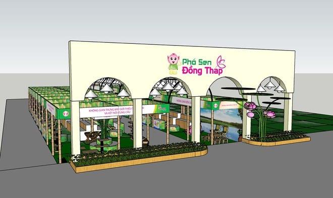 Mô hình trưng bày, giới thiệu và bán sản phẩm của tỉnh Đồng Tháp /// An Khang Land