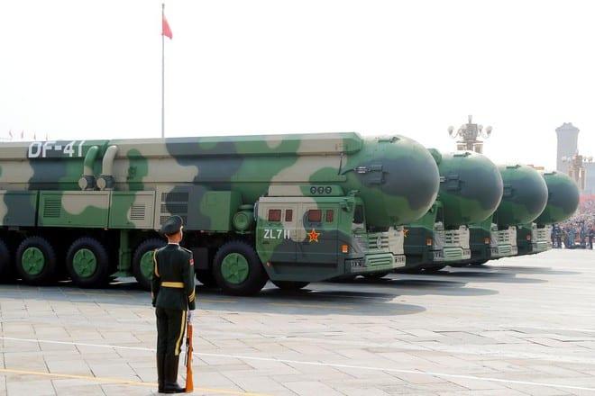 Tên lửa đạn đạo liên lục địa DF-41 của Trung Quốc có tầm bắn đến lục địa Mỹ /// Reuters