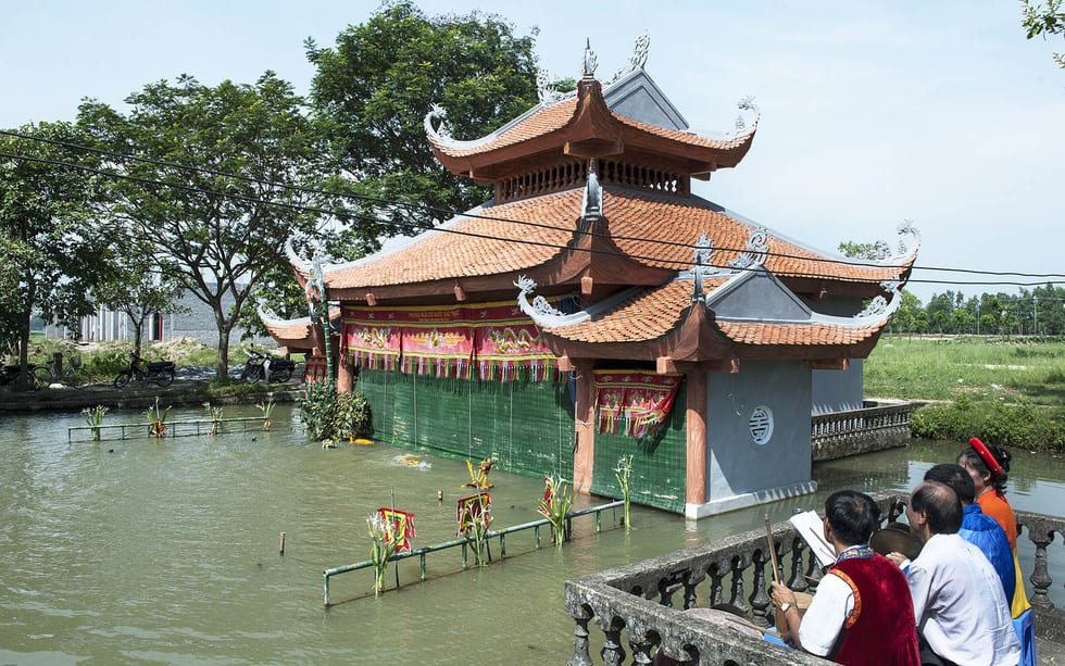 Rối nước 300 năm ở làng Đào Thục - Ảnh 5.