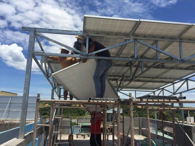 Điện mặt trời chiếm gần 90% tổng sản lượng năng lượng tái tạo /// Ảnh: Ng.Ng