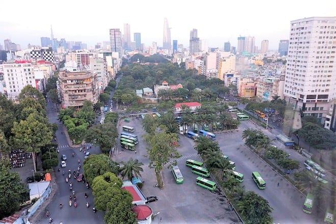 Công viên 23 Tháng 9 (Q.1, TP.HCM) đang được sử dụng cho nhiều mục đích khác nhau /// Ảnh: Ngọc Dương