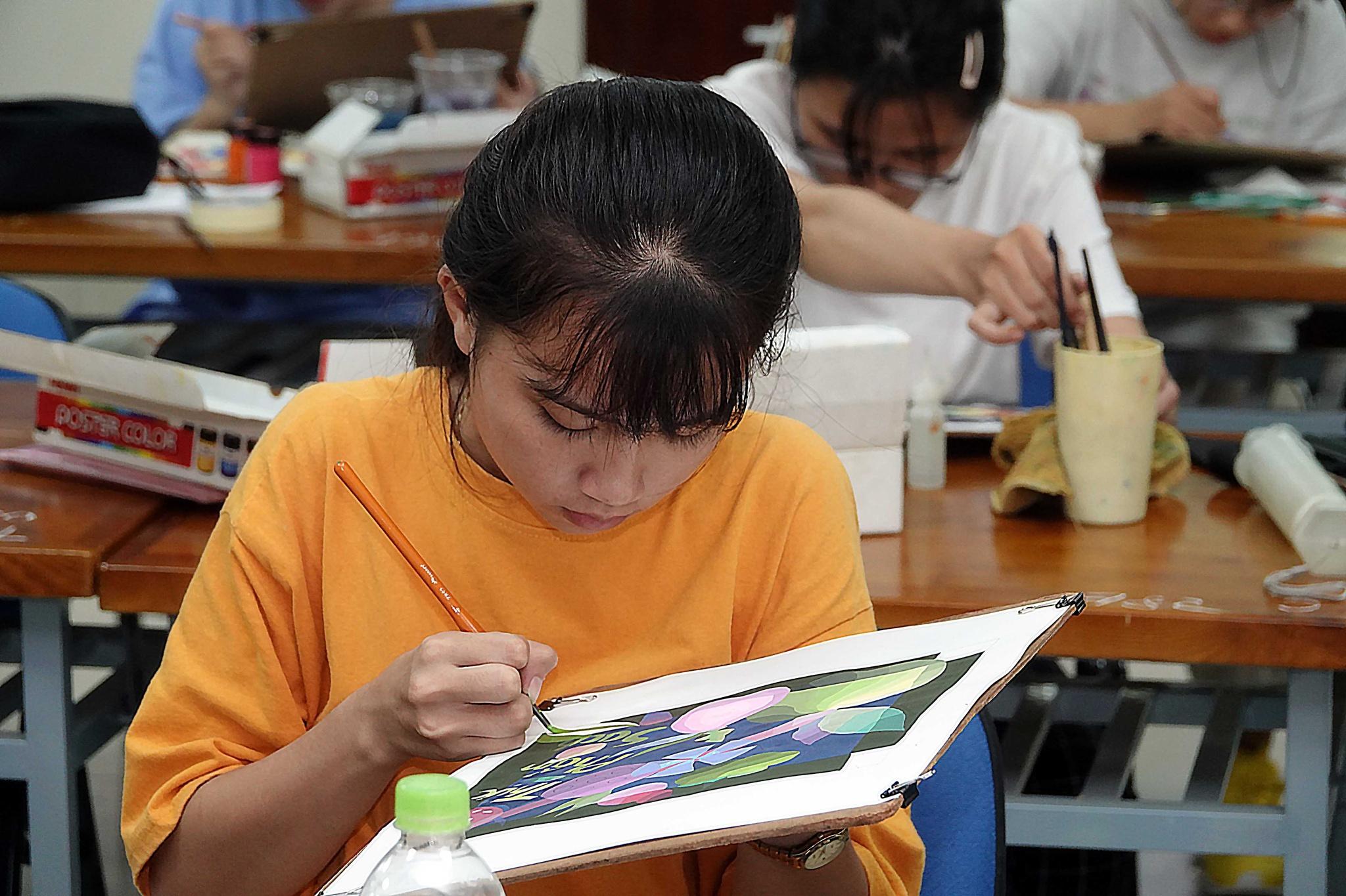 Thí sinh tham gia thi năng khiếu tại Trường ĐH Kiến trúc TP.HCM trong các kỳ tuyển sinh trước /// Đào Ngọc Thạch