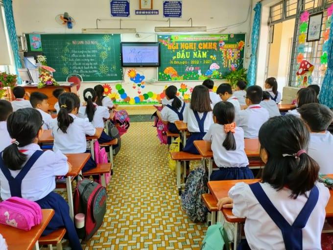 Tiết sinh hoạt lớp tại Trường tiểu học Trần Văn Ơn, quận Gò Vấp, TP.HCM /// Ảnh của trường