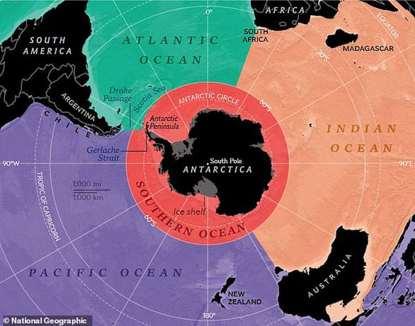 Trái đất chính thức có 5 đại dương - Ảnh 1.