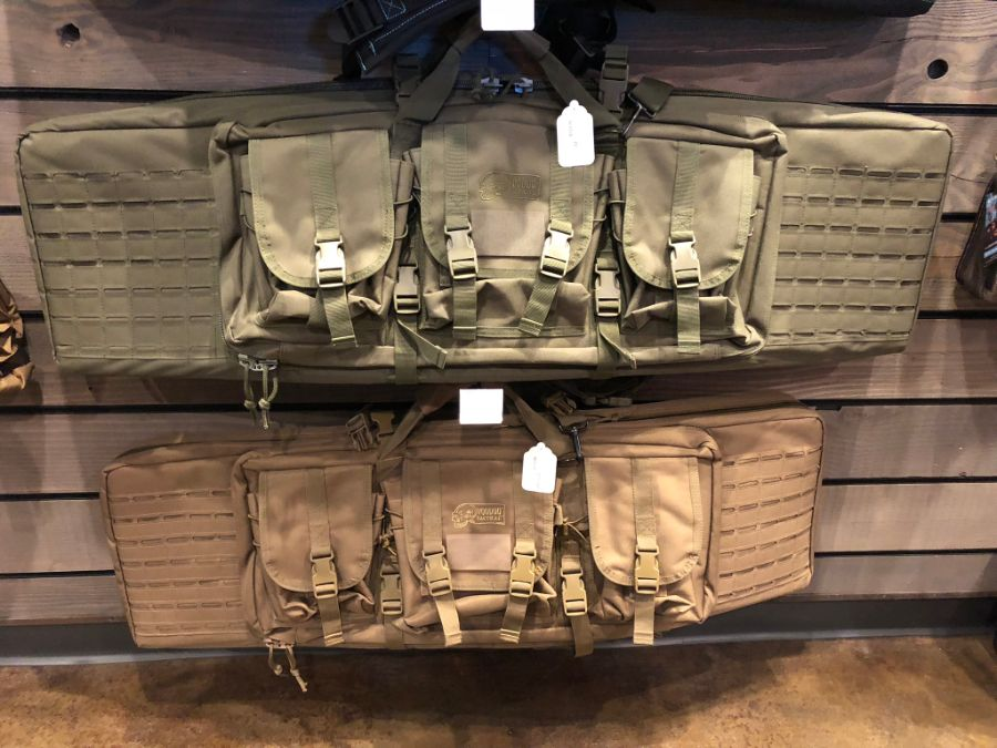 Bags for sale at Timberline Firearms retail shop