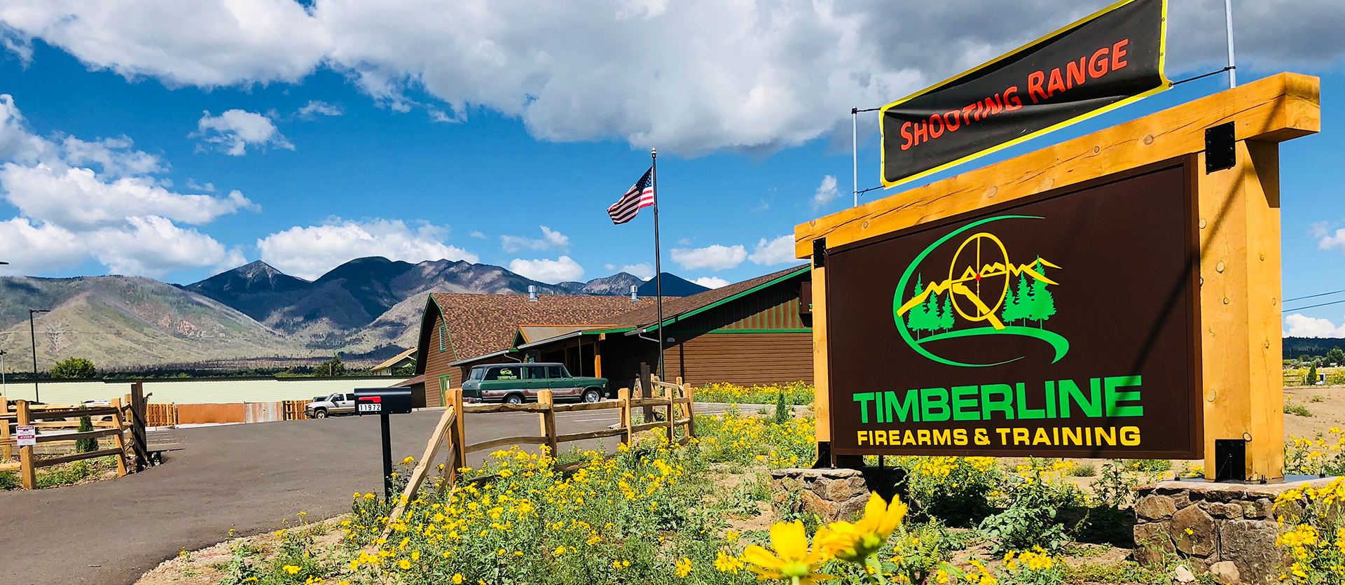 Timberline Firearms shooting range from the outside