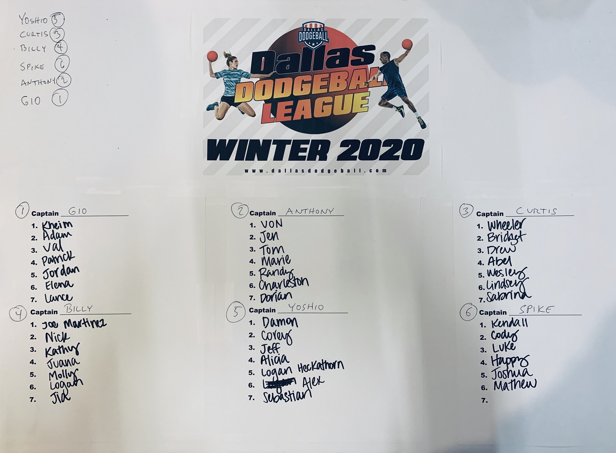Winter 2020 Teams