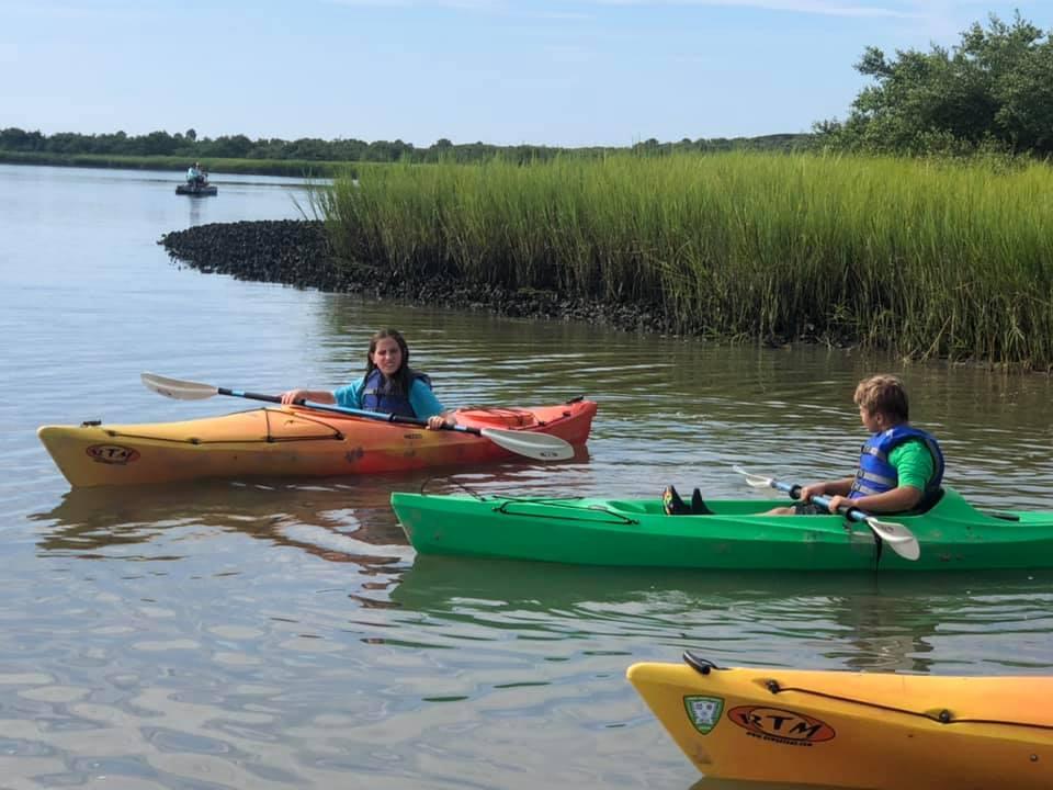 Anastasia State Park Camp Kids Kayacking