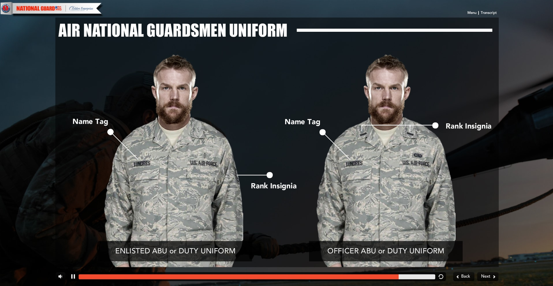 Military eLearning Developers
