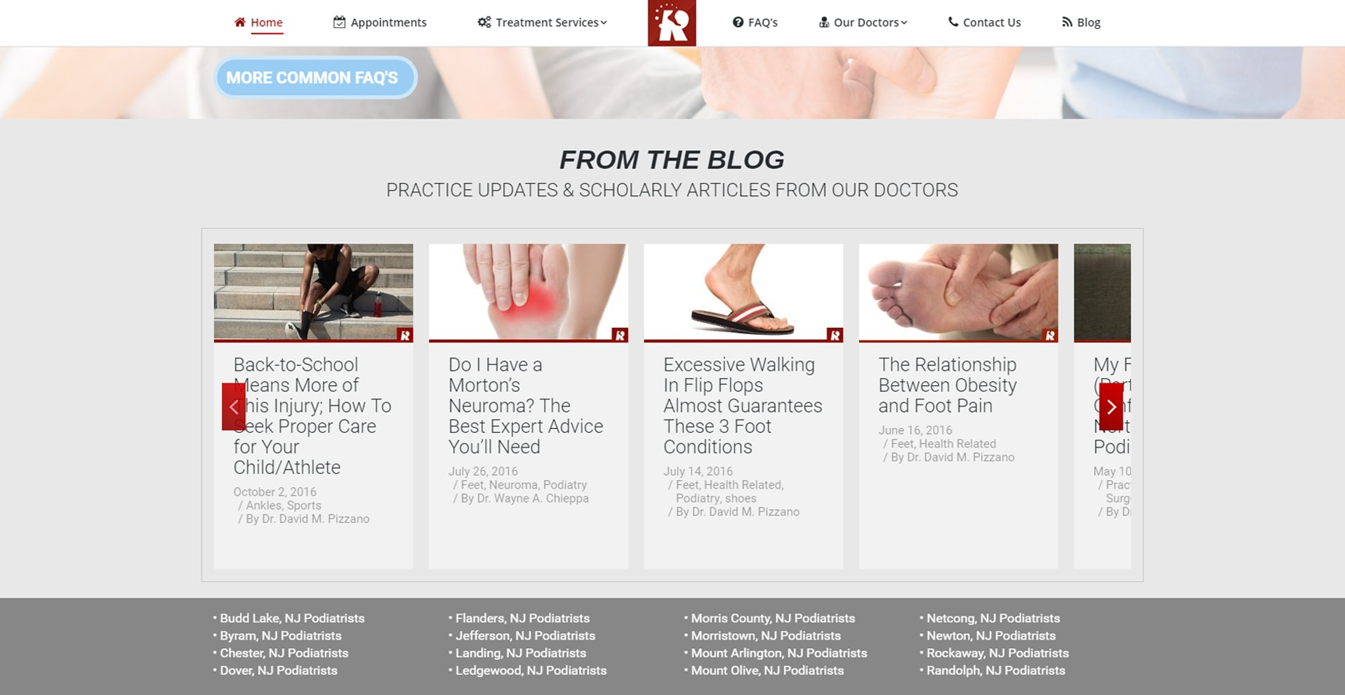 Blog Strategy for Roxbury Foot *& Ankle Center of New Jersey 2