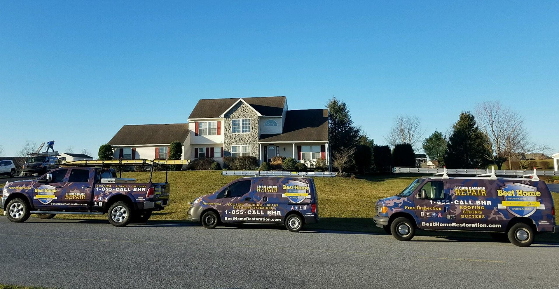 Best Home Restoration Inc Truck Fleet