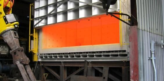 Industrial Furnace Open