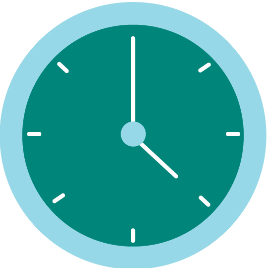 Icon showing a clock.